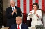 Chủ tịch Hạ viện Mỹ hứng bão chỉ trích vì xé bản in Thông điệp Liên bang của ông Trump