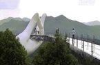 Xuất hiện cây cầu đi qua bàn tay ở Trung Quốc giống gần hệt cầu Vàng Đà Nẵng