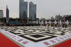 Cận cảnh mã QR khổng lồ làm từ 5 tấn gạo ở Trung Quốc