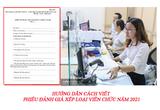 Hướng dẫn cách viết phiếu đánh giá xếp loại viên chức năm 2021