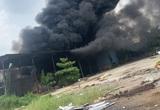 Hải Phòng: Đang cháy lớn ở xưởng phế liệu rộng hàng nghìn m2