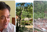 """Quảng Ngãi: Có """"chìm xuồng"""" vụ lãnh đạo, cán bộ xã dựng nhà trái phép ở thác Cao Muôn?"""