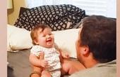 """Video: """"Tan chảy"""" với những tiếng cười trẻ thơ khi chơi với bố"""
