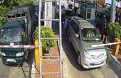Clip lái xe dùng dao chặt barie, đuổi đánh nhân viên trạm thu phí BOT Tân Đệ