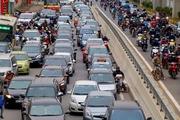 Phương tiện chen chúc đi trên tuyến đường Hà Nội dự kiến cấm xe máy