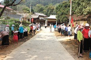 """Xã vùng cao Yên Bái """"thay da đổi thịt"""" từ xây dựng nông thôn mới"""