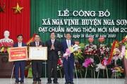 Thanh Hóa: Nga Vịnh đạt chuẩn nông thôn mới