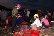 Hà Tĩnh: La liệt mực, tôm, cá, ghẹ ở chợ cá 600 tuổiở gò Cửa Nhượng
