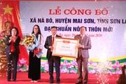 Sơn La: Thêm xã Nà Bó được công nhận nông thôn mới