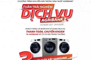Cơ hội nhận 580 giải thưởng trị giá 1 tỷ đồng từ Agribank