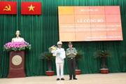 Đại tá Cao Đăng Hưng, Phó Giám đốc Công an TP.HCM được phong hàm Thiếu tướng