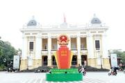 [Ảnh] Hà Nội: Đường phố trang hoàng rực rỡ chào đón ngày hội của toàn dân
