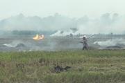 Hà Nội: Khói bụi mù mịt trên những cánh đồng sau vụ gặt