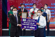C.P Việt Nam tặng 50 tỷ đồng cho Quỹ Vắc-xin phòng, chống Covid-19