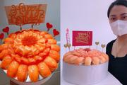 """""""Mục sở thị"""" bánh sinh nhật làm từ cá sống giá cả triệu đồng/chiếc, phải đặt trước may ra mới có"""