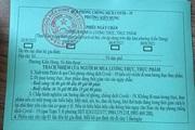 Áp dụng Chỉ thị 16: Phiếu đi chợ không ghi thông tin hộ và địa chỉ được không?
