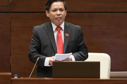 """""""Nóng"""" vấn đề BOT, dự án chậm tiến độ, đội vốn, Bộ trưởng Nguyễn Văn Thể trả lời thế nào với ĐBQH?"""