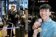 Bạn gái xinh đẹp bịn rịn tiễn Đoàn Văn Hậu đi Hà Lan thi đấu 3 tháng