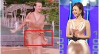 """Clip Thanh Hằng mặc váy lụa múa gợi cảm bất ngờ gặp sự cố gây ngượng """"chín mặt"""" giống Midu?"""