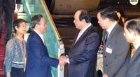 Thủ tướng Nhật Bản Suga Yoshihide tới Hà Nội, bắt đầu thăm chính thức Việt Nam