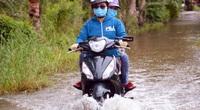 Cà Mau: Sau hạn mặn kinh hoàng, dân vùng ngọt hóa lại bì bõm lội nước ngập lụt, học sinh 1 huyện phải nghỉ học