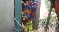 Lũ lụt kỷ lục ở Quảng Bình: Cứu mẹ già gãy cả tay và chân ra khỏi rốn lũ