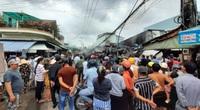 Cà Mau: Cháy chợ phường 8, hàng trăm người dân kéo đến xem
