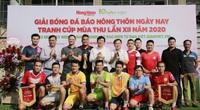 Hình ảnh lễ khai mạc Giải bóng đá báo Nông thôn Ngày nay/Dân Việt lần thứ 12