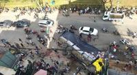 Xe chở bia nghi quên kéo thắng tay ủi bay 17 xe máy trên đường