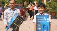 Quảng Trị: Hàng loạt trường học được hỗ trợ máy rửa bùn sau bão lũ