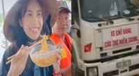 """Clip nóng hôm nay: Ấm lòng cảnh đoàn xe đi cứu trợ và bữa ăn """"ngon nhất"""" của Thủy Tiên ở miền Trung"""
