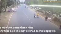 Video: Xe máy đối đầu kinh hoàng, 1 người chết thảm