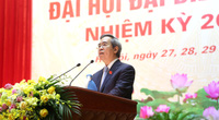 Ông Nguyễn Văn Bình phát biểu tại Đại hội đại biểu Đảng bộ Khối các Cơ quan Trung ương