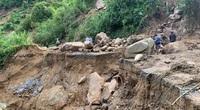 Gian nan đường vào khu vực lở núi khiến 5 người tử vong, 8 người mất tích ở Phước Sơn