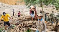 Những người sống sót bắt đầu tìm về trung tâm vụ sạt lở ở xã Trà Leng