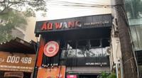 Clip: Cháy nhà hàng Lẩu Wang trên phố Dịch Vọng Hậu ở Hà Nội