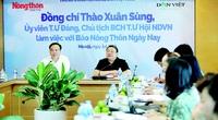 Chủ tịch Hội Nông dân Việt Nam Thào Xuân Sùng: Dân Việt - báo điện tử thực sự vì nông dân, nông nghiệp, nông thôn