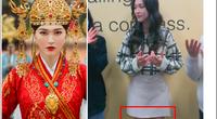 Mỹ nhân phim cổ trang Trung Quốc mặc váy ngắn bị chụp lén đôi chân gầy gò, fan lo lắng
