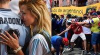 Đông đảo người hâm mộ Argentina bày tỏ sự tiếc thương Maradona