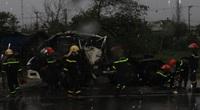Xe đầu kéo tông ôtô tải, tài xế tử vong trong cabin