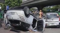 Tai nạn giao thông liên hoàn trên đường Phạm Hùng, 4 người bị thương