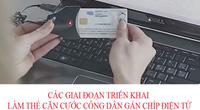 Các giai đoạn làm thẻ căn cước công dân gắn chíp điện tử
