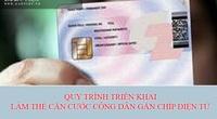 Quy trình triển khai làm thẻ căn cước công dân gắn chíp điện tử thế nào?
