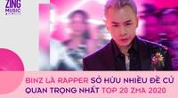 Top 20 giải Zing Music Awards: Binz là rapper có nhiều đề cử nhất, K-ICM vượt mặt Jack
