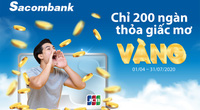 5 chủ thẻ Sacombank JCB đầu tiên trúng vàng 9999