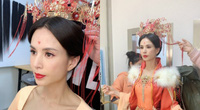 Mỹ nhân phim cổ trang Trung Quốc hóa tân nương đẹp hút mắt tuổi U50, ngoài đời vẫn lẻ bóng