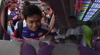 Công Phượng vượt vòng vây đám đông cuồng nhiệt ở Hà Tĩnh