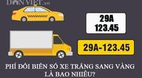 Phí đổi biển xe màu trắng thành màu vàng là bao nhiêu?