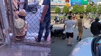 Tài xế vi phạm lao ô tô vào cảnh sát giao thông, kéo lê gần 10m