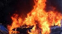 Thanh Hóa: Cháy lớn tại bãi xe tự phát